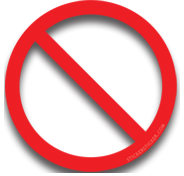 'No' Oversticker